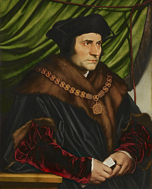 Thomas More wearing the chain of office of chancellor