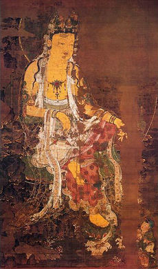 Old Korean painting of Kuan Yin